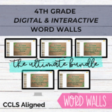 BUNDLE - 4th Grade Digital and Interactive Word Wall for G