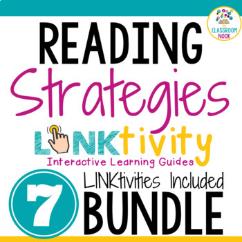 GROWING BUNDLE:  7 Reading Strategy Link & Thinks (Google Classroom Compatible)