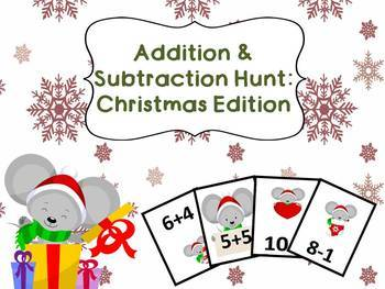 GROWING BUNDLE: Addition and Subtraction Hunts #1-10