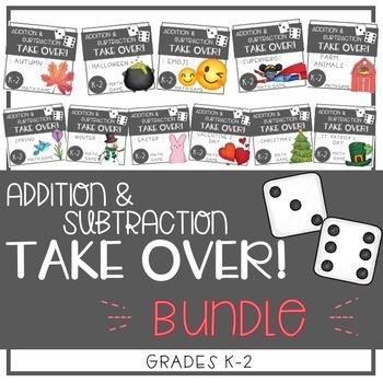 BUNDLE - Addition and Subtraction TAKE OVER! - EDITABLE