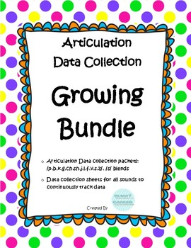 Articulation Data Collection Progress Monitoring Bundle
