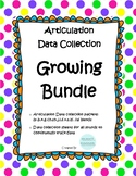 Articulation Data Collection Progress Monitoring Bundle #d