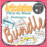 GROWING BUNDLE: Articulation Fill in the Blank Sentences
