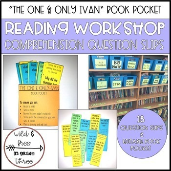 GROWING BUNDLE: Book Pockets for Reading Comprehension & Discussion
