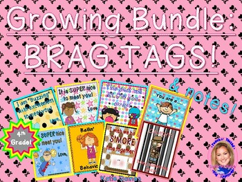 GROWING BUNDLE: Brag Tags! (Fourth Grade)