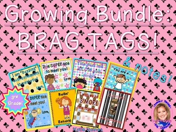 GROWING BUNDLE: Brag Tags! (Third Grade)