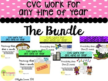 GROWING BUNDLE: CVC Centers for Any Time of Year!