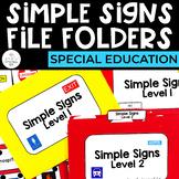 Simple Signs File Folders Bundle