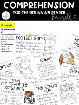 MEGA Bundle Comprehension for the Beginning Reader