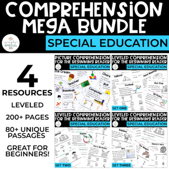 MEGA Bundle Comprehension for the Beginning Reader