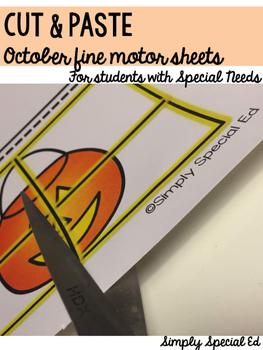 Cut and Paste Fine Motor Sheets Bundle