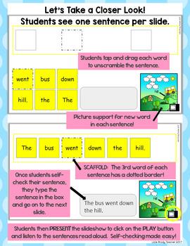 GROWING BUNDLE - DIGITAL Sight Word Scrambled Sentences