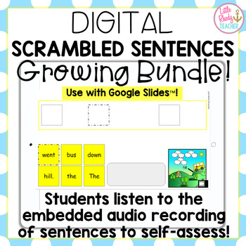 DIGITAL Sight Word Scrambled Sentences