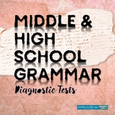 Middle and High School Grammar and Usage Diagnostic Tests Quizzes {CCSS}
