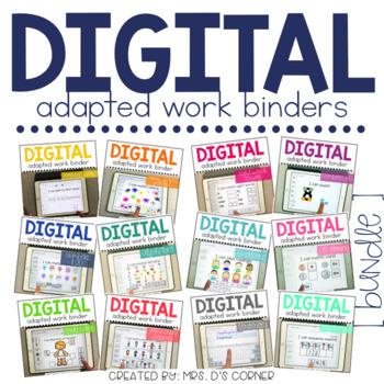 Digital Adapted Work Binders BUNDLE