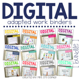 BUNDLE of Digital Adapted Work Binders | Distance Learning