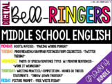 GROWING BUNDLE: Digital Bell Ringers English Middle School Warm ups