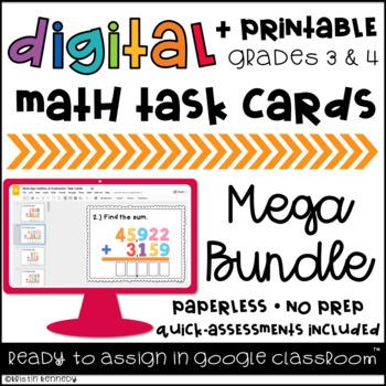 GROWING BUNDLE: Digital Task Cards for Google Classroom {Grades 3 & 4}