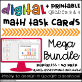 Google Classroom™ Activities: Digital Task Cards Mega Bundle {Grades 3 & 4 Math}