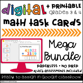Google Classroom™ Distance Learning Digital Task Cards Mega Bundle