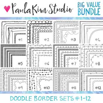 Skinny Doodle Borders BIG BUNDLE