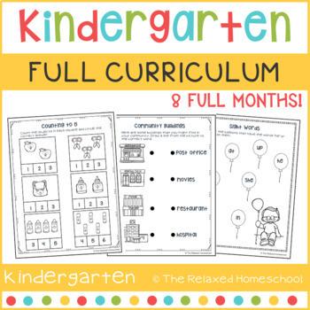 GROWING BUNDLE: FULL Kindergarten Curriculum Bundle - 8 Months