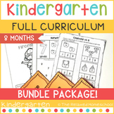 FULL Kindergarten Curriculum Bundle - 8 Months - NO PREP!
