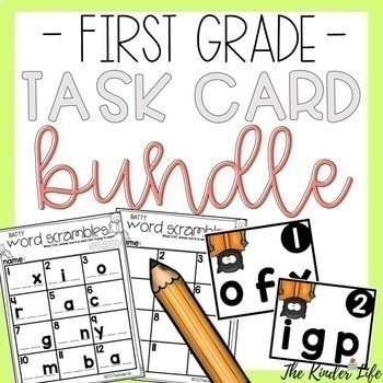 First Grade Write the Room Task Card BUNDLE