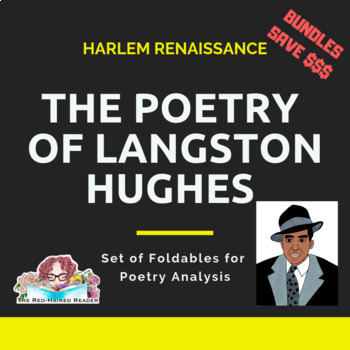 BUNDLE of 7 Langston Hughes Foldable Poetry Analysis + exclusive Harlem bonus