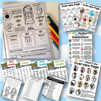 Interactive Sight Word Printables BUNDLE
