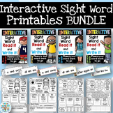 Interactive Sight Word Printables BUNDLE