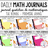 BUNDLE - Journal quotidien de maths (Daily Math Journal Prompts) - 1E ANNÉE