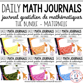 BUNDLE - Journal quotidien de maths (Daily Math Journal Prompts) - MATERNELLE