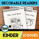 GROWING BUNDLE-Kinder Phonics Decodable Readers~23 Color/Blackline PDFs & eBooks