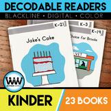 BUNDLE Kindergarten Phonics Decodable Readers 23 Color/Blackline PDFs & eBooks