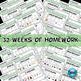 Kindergarten Phonics Homework Zaner-Bloser ~ 1 Year {TEKS-aligned}