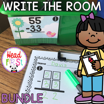 30% OFF BUNDLE of 55 Learning Hunts - Write the Room - I Spy ELA/Math Centers