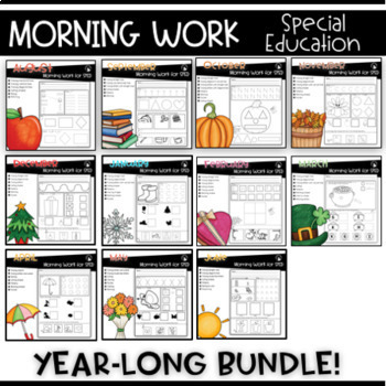 GROWING BUNDLE  MORNING WORK FOR SPECIAL EDUCATION