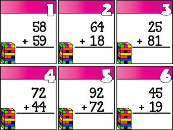 GROWING BUNDLE Math Based Timber Blocks (Jenga or Board Based Games)