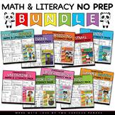 Math and Literacy - No Prep BUNDLE - Kindergarten