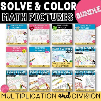 GROWING BUNDLE: Monthly Math Pictures: Multiplication and Division