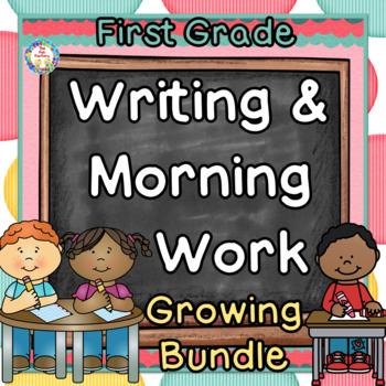 GROWING BUNDLE, Morning Work, 1st Grade~Language, Sight Word Practice~NO PREP
