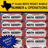 BUNDLE: NUMBER & OPERATIONS ~ MATH READY 3rd Grade Task Cards – 8 Sets