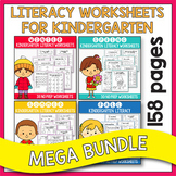 BUNDLE Literacy Worksheets for Kindergarten, Summer Packet