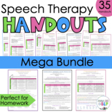 BUNDLE: Play Based Speech Therapy Handouts for Parents, SLPs, and Teachers