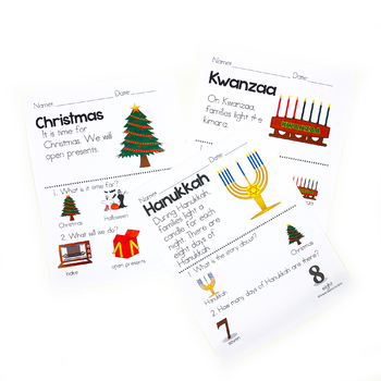 Picture Comprehension-Seasons (for students with Autism) BUNDLE