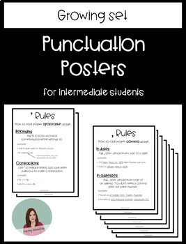 GROWING BUNDLE: Punctuation Posters for Intermediate Students
