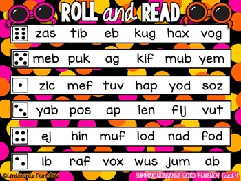 Roll and Read with CVC Words by Ms. Lendahand=)