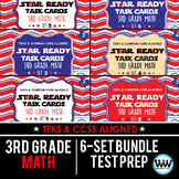 SETS 1-6 BUNDLE - STAR READY 3rd Grade Math Task Cards - STAAR / TEKS-aligned