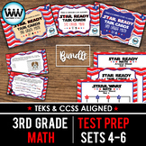 BUNDLE - STAR READY 3rd Grade Math Task Cards ~ SETS 4-6 {TEKS-aligned}